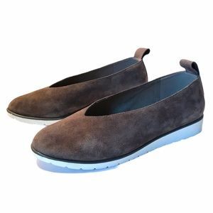 Eileen Fisher Gray Suede Slip On Flats Women's 7.5